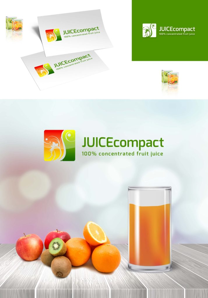 Juice Compact Logo Design Concept Presentation For Portfolio